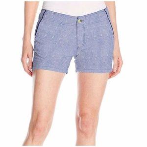 Size 14 Columbia Solar Fade Shorts Blue Anchors